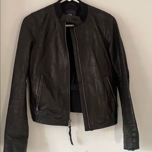 Gap Leather Motorcycle Jacket - Small